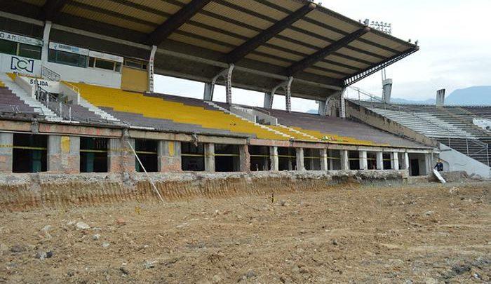 Por invierno, suspenden obras de remodelación del estadio Manuel Murillo Toro 1
