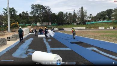 Así se ve la pista de Atletismo en Ibagué 2