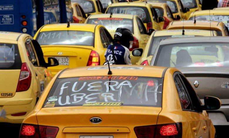 Se aproxima monumental paro de taxistas en Bogotá 1