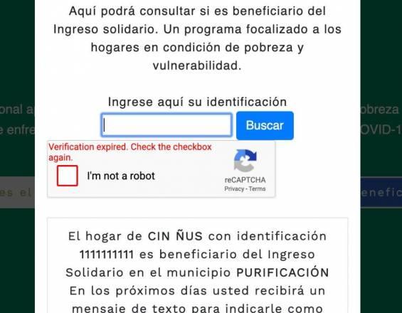Denuncian falsos beneficiarios en plataforma del Ingreso Solidario 1