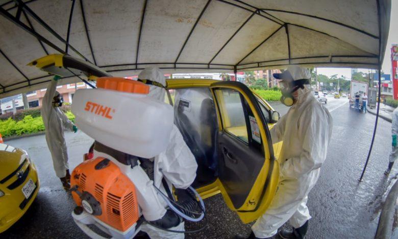 Taxis de Ibagué, limpios y desinfectados 1