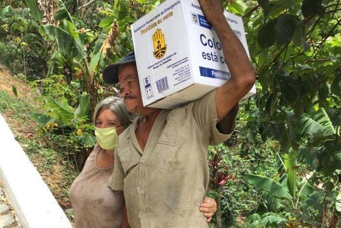 """Avanza entrega de asistencia humanitaria """"apoyo al adulto mayor de 70 años"""" en el país 1"""