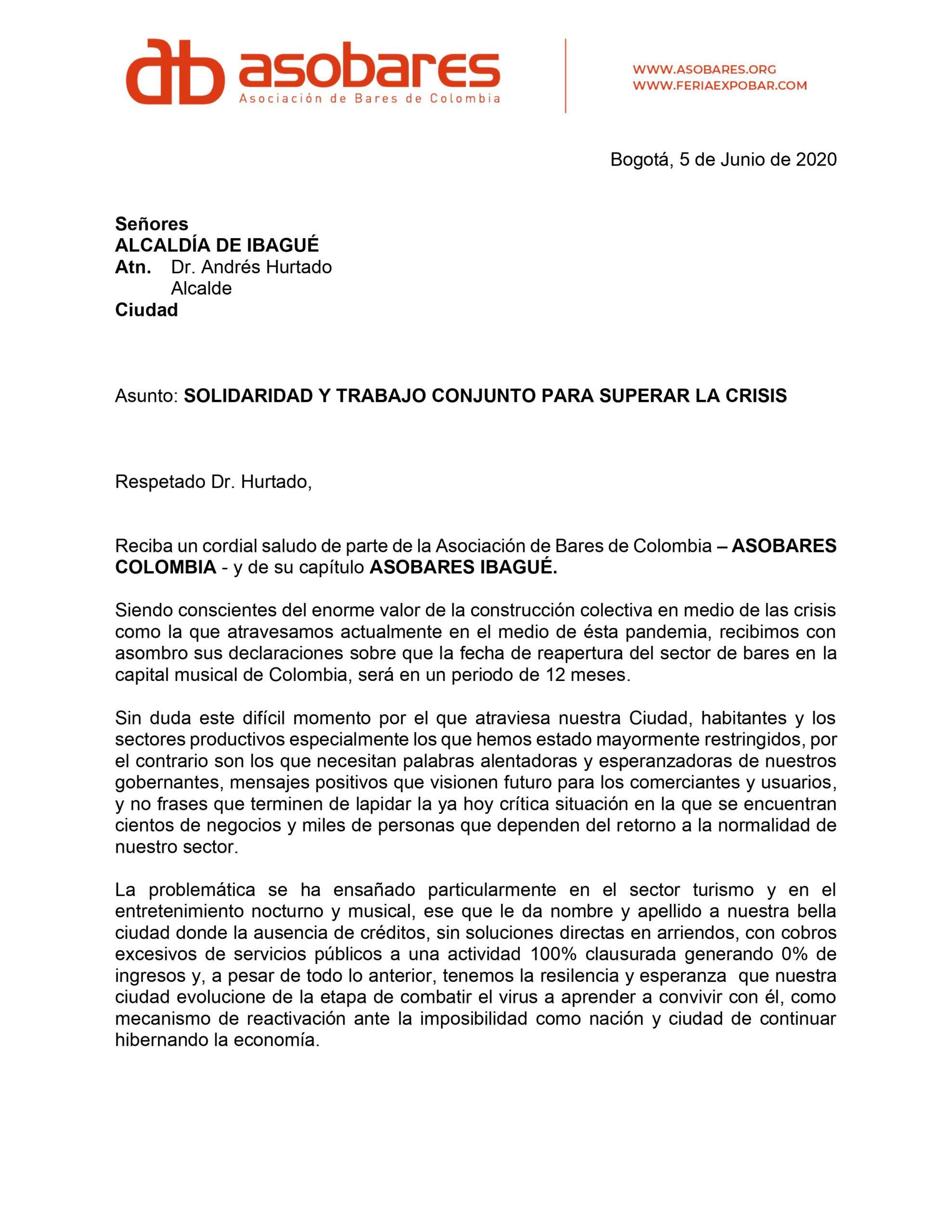 ASOBARES en Ibagué le pide salvavidas a la Alcaldía 2