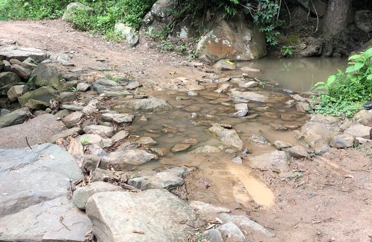 Le 'meterán mano' a vías terciarias y puente a la entrada de Icononzo 3