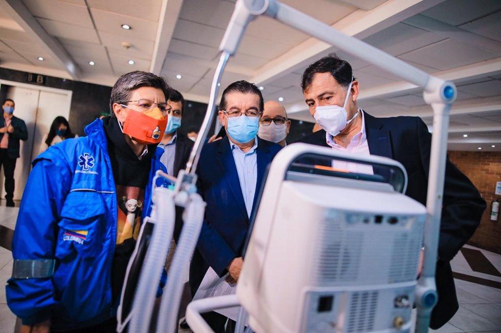 El Gobierno Nacional le entregó 130 ventiladores a Bogotá 4