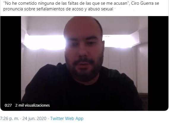 Director de cine colombiano es señalado de acoso y abuso sexual 12