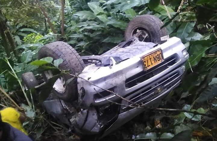 Conductor salió ileso de accidente en Abismo de Ortega Tolima 1