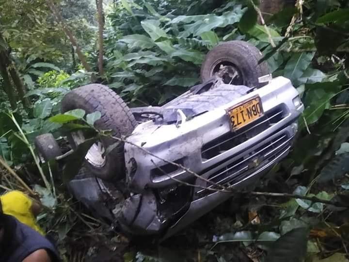 Conductor salió ileso de accidente en Abismo de Ortega Tolima 4