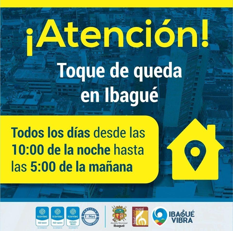 Nuevo horario para el toque de queda en Ibagué 4