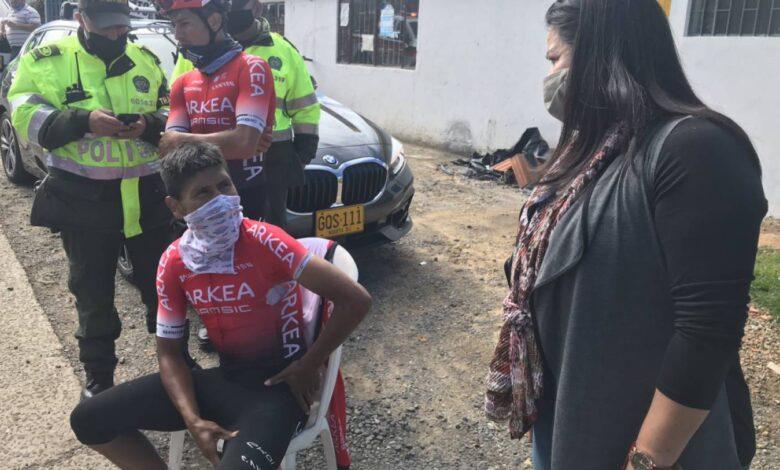 Nairo Quintana se accidentó en carreteras boyacenses 1