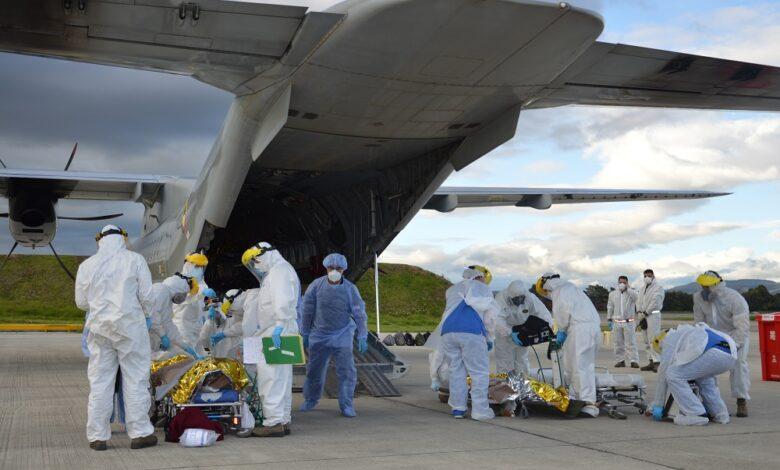 Heridos del accidente en Tasajera fueron trasladados por la Fuerza Aérea 1