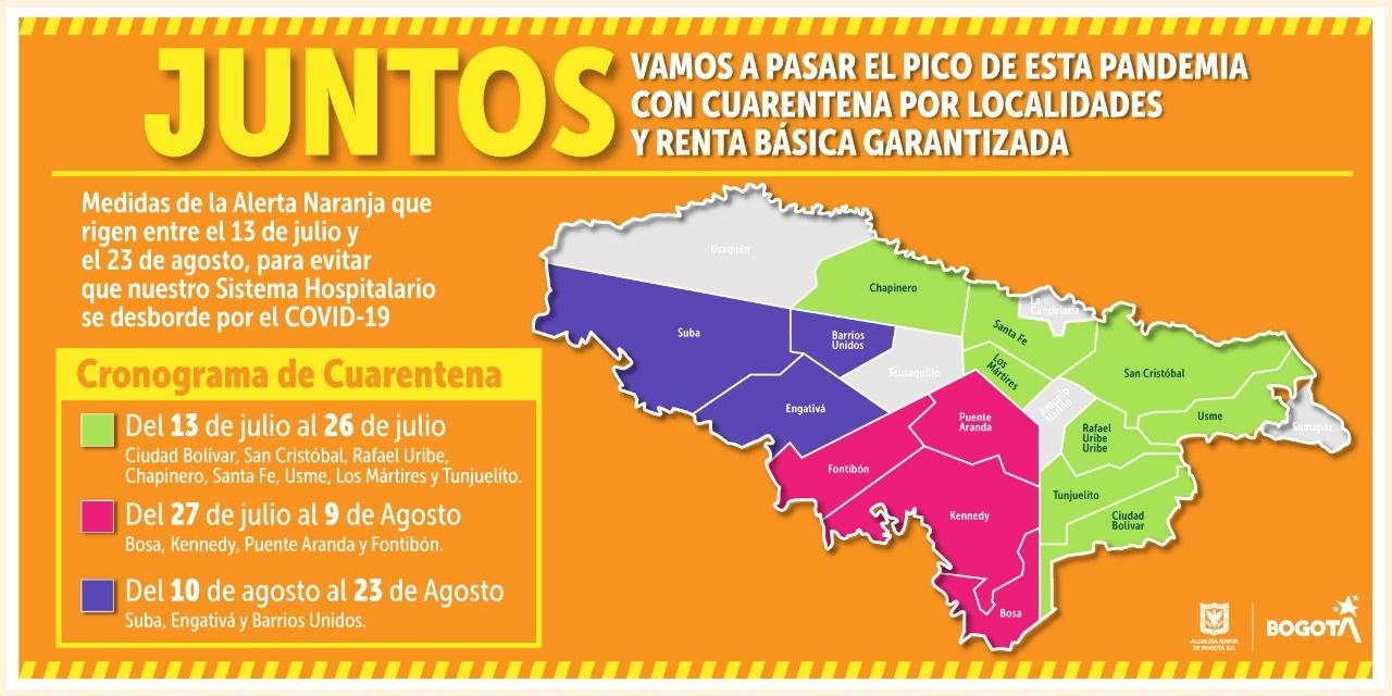Bogotá entrará de nuevo en cuarentena estricta 6