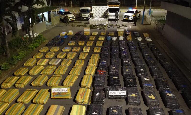 Incautan ocho toneladas de marihuana en la vía de Villarrica a Palmira 1