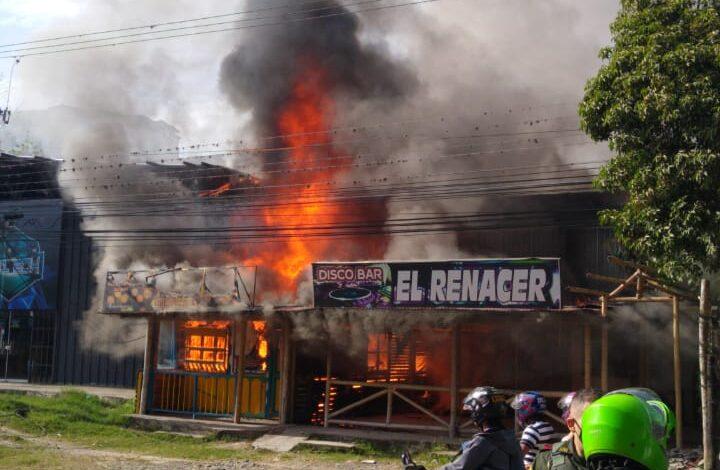 Dos establecimientos afectados por incendio en el Salado 1