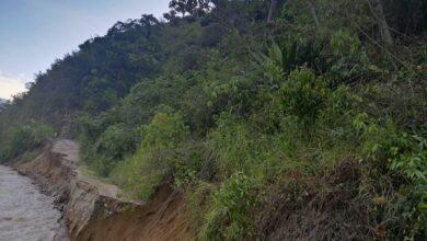 Photo of El río Cucuana se llevó 120 metros de vía en el sur del Tolima
