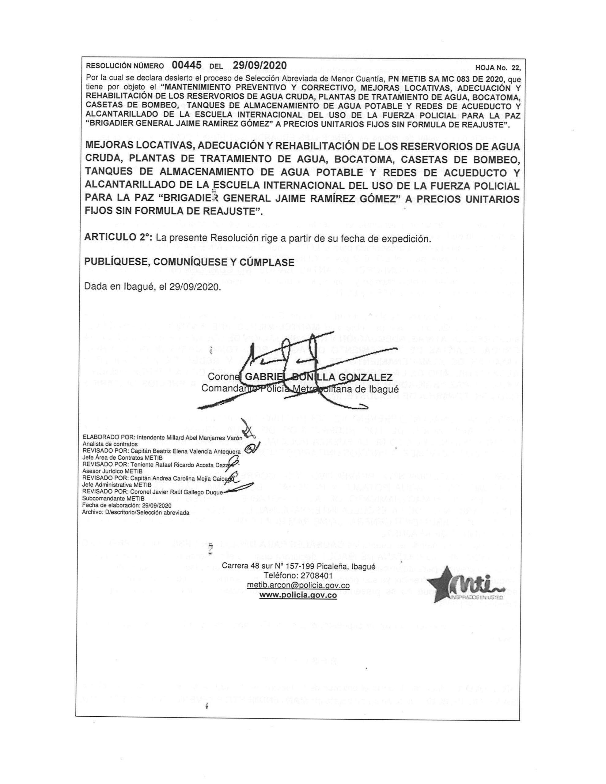 Declaran desierta licitación de la Policía que fue denunciada por presuntas irregularidades 4
