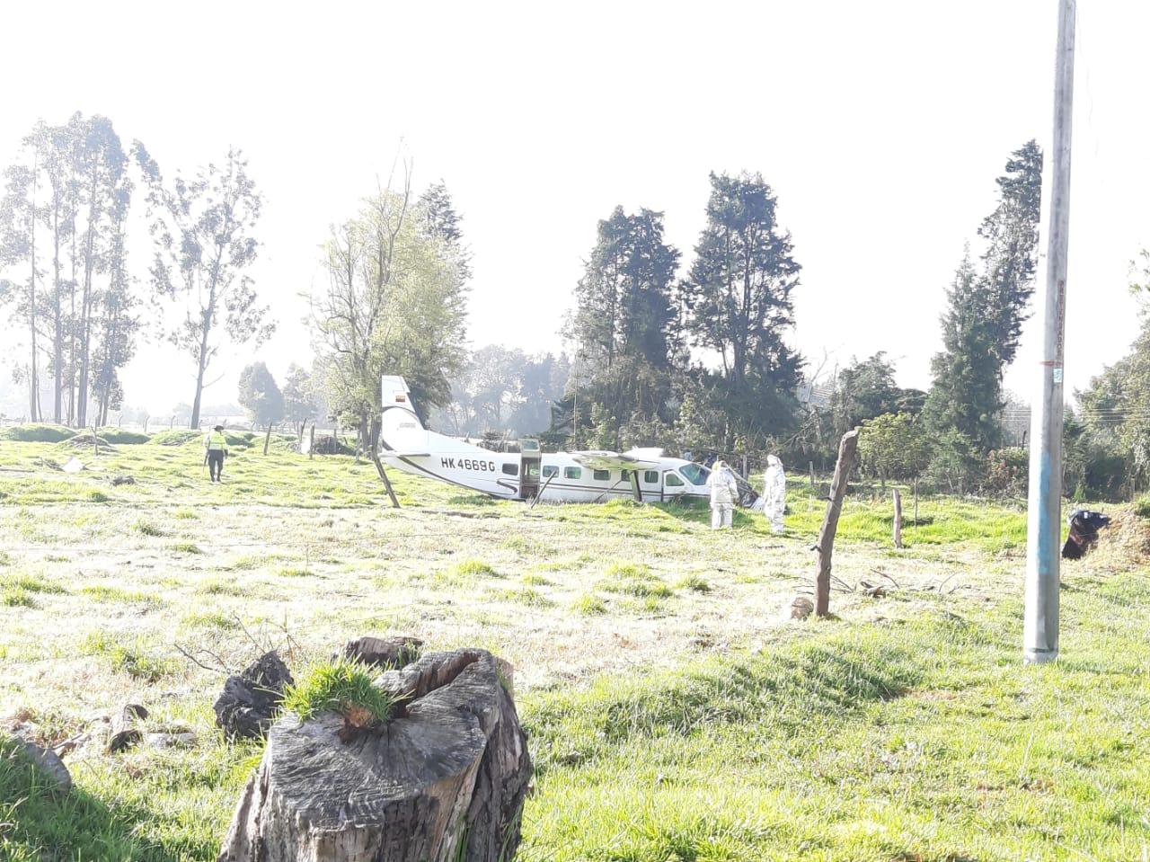 Accidente de avioneta en el norte de Bogotá 4