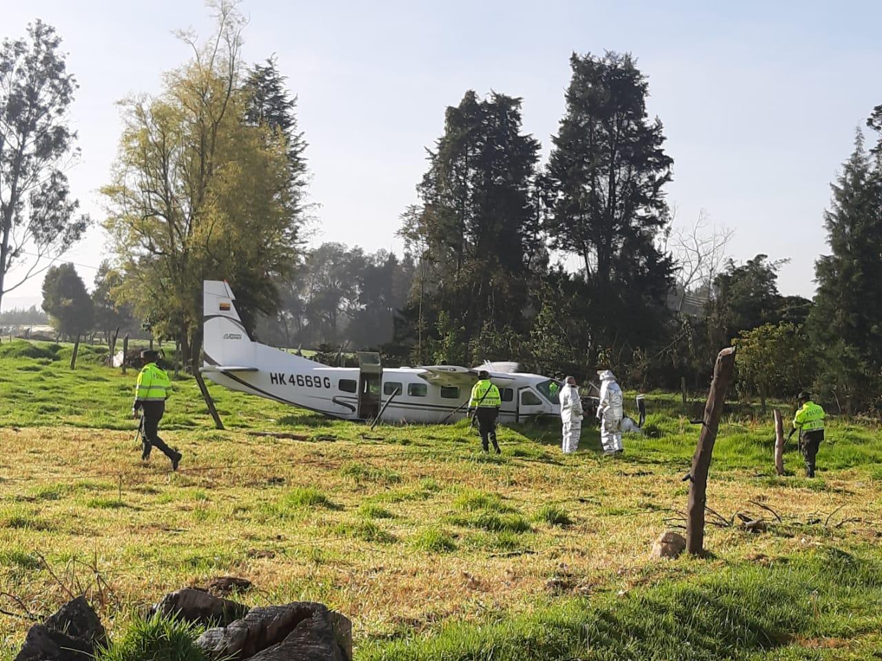 Accidente de avioneta en el norte de Bogotá 6