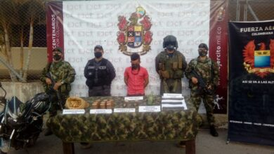 Photo of Asegurado presunto explosivita de las disidencias  de las FARC que operan en el sur de Tolima