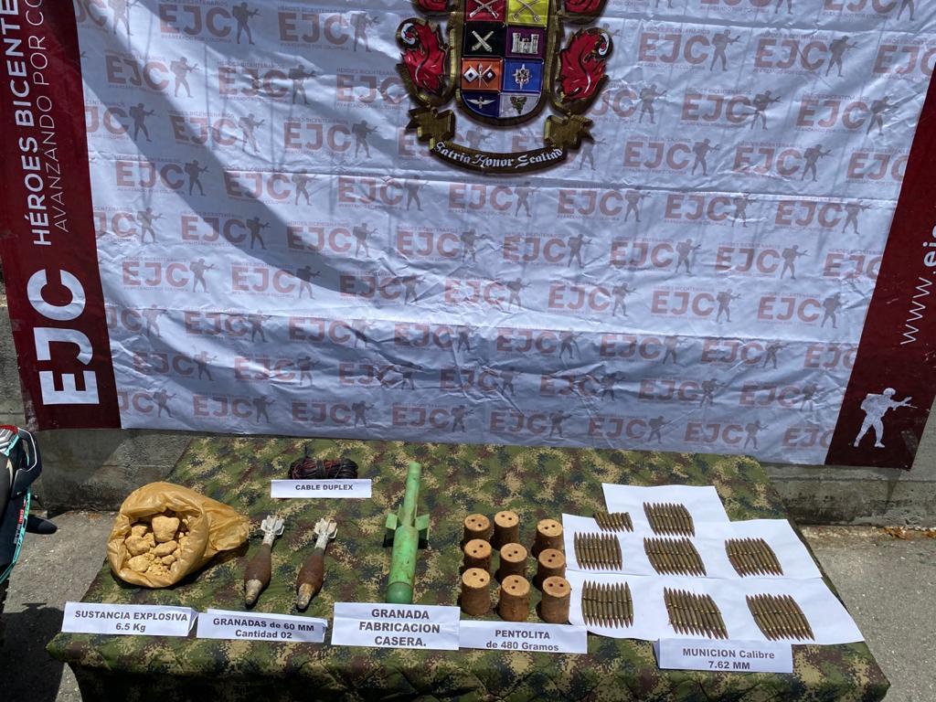 Asegurado presunto explosivita de las disidencias  de las FARC que operan en el sur de Tolima 3