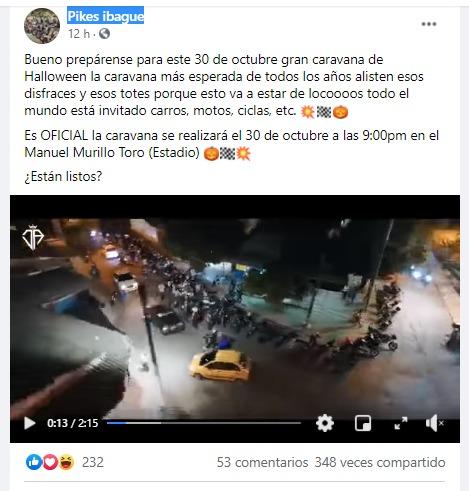 ¡No hay autoridad en Ibagué!, motociclistas convocan caravana para el 30 de octubre 4