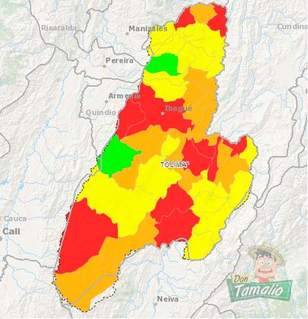 Murillo y Roncesvalles, únicos municipios sin covid en el Tolima 1