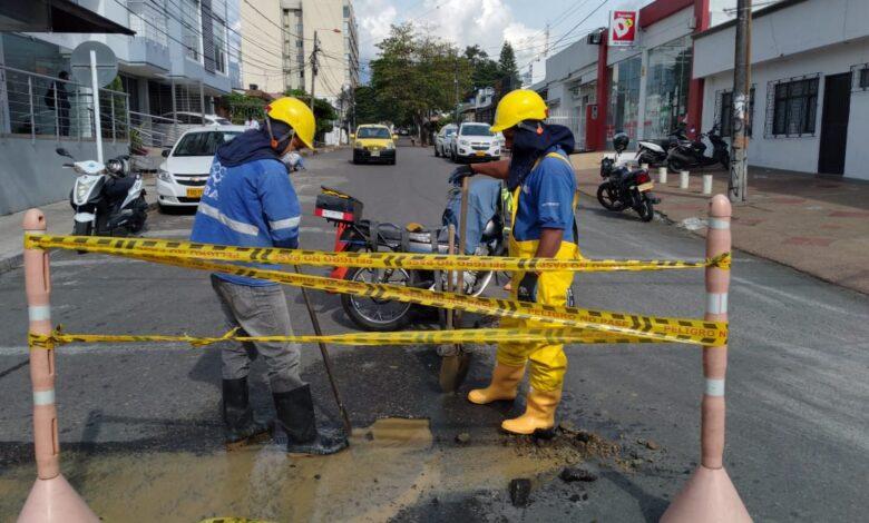 87 barrios se quedan sin agua por daño en tubería del barrio la Macarena parte alta 3