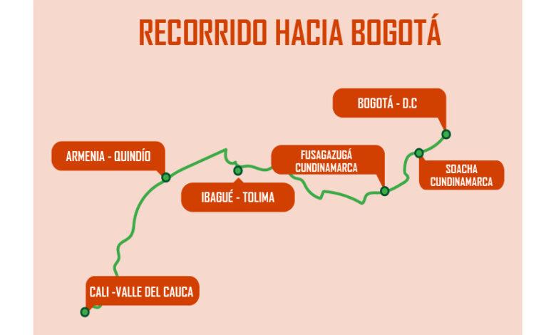Este será el recorrido de la Minga indígena de Armenia a Bogotá 3