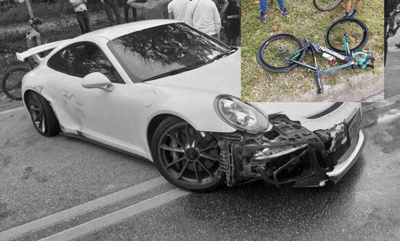 Automóvil atropella a ciclista en Barbosa, Santander 1