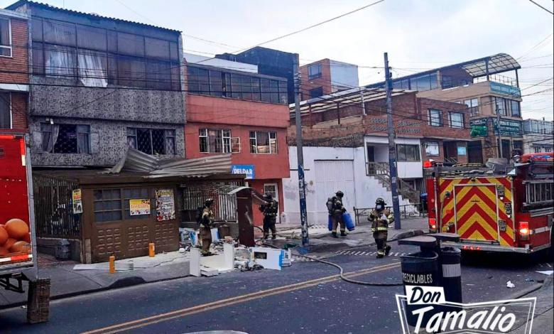 Fuerte explosión en un depósito de gas en Bogotá dejó nueve heridos 1