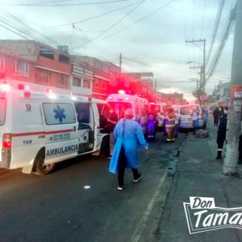 Fuerte explosión en un depósito de gas en Bogotá dejó nueve heridos 3