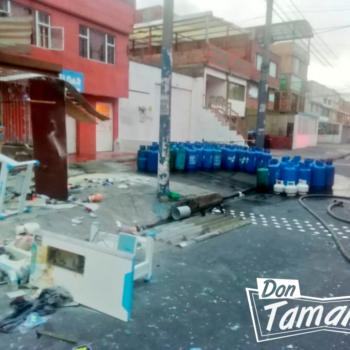 Fuerte explosión en un depósito de gas en Bogotá dejó nueve heridos 2