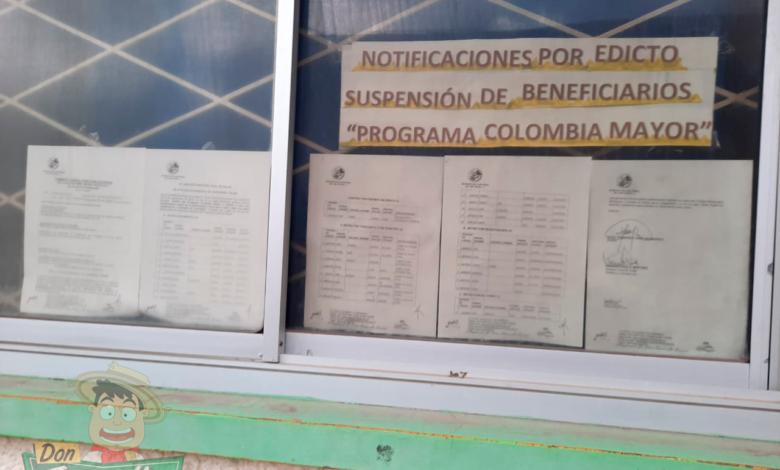 Cerca de 59 abuelos de Chaparral fueron retirados del programa Colombia Mayor 1