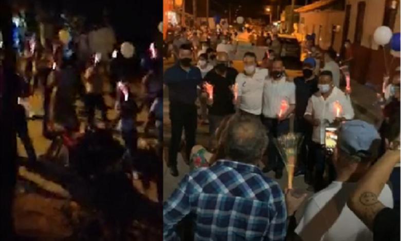 Con una marcha en el Valle de San Juan, candidato a la alcaldía responde ante fuertes acusaciones de su adversario 1