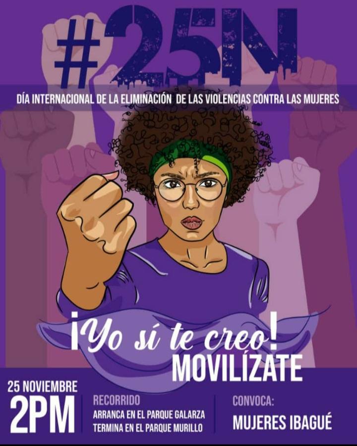 Este miércoles Ibagué tendrá una nueva marcha en contra de la violencia de género 4