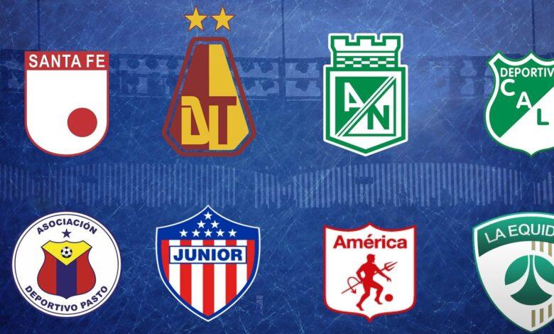 Listos los 8 clasificados para disputar la parte final de la liga del fútbol colombiano 1