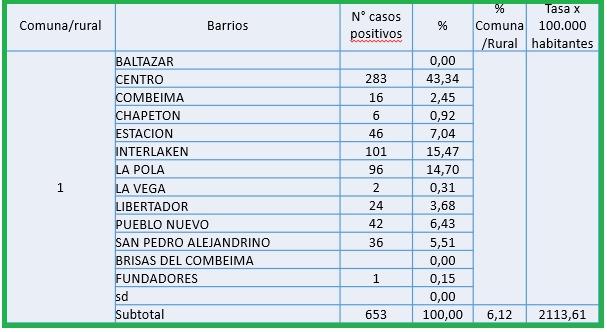 Conozca el número de casos de Covid-19 por barrios de Ibagué 4