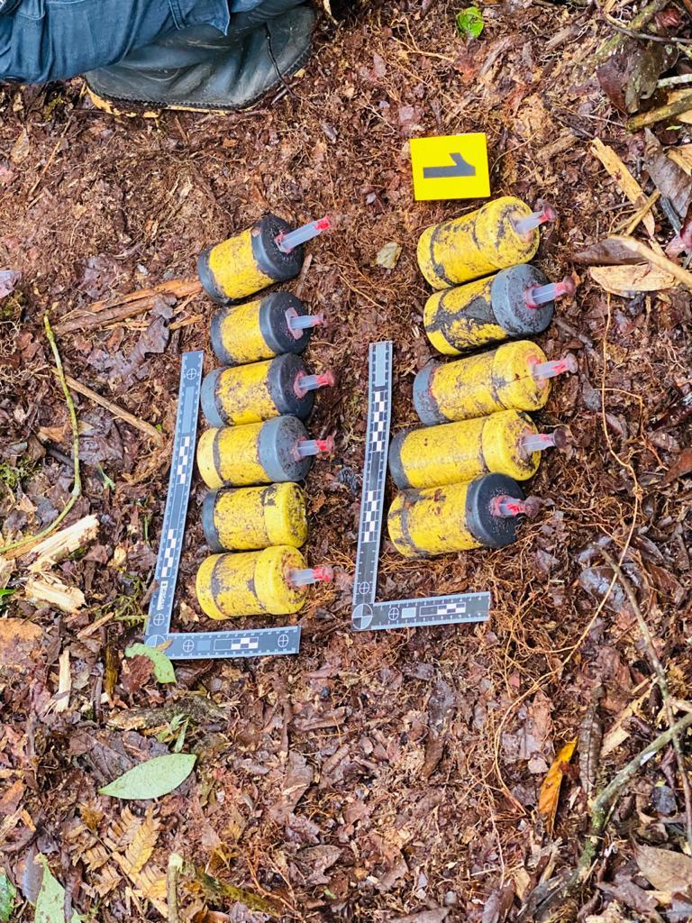 Caleta con armamento del ELN hallado en Villahermosa 6