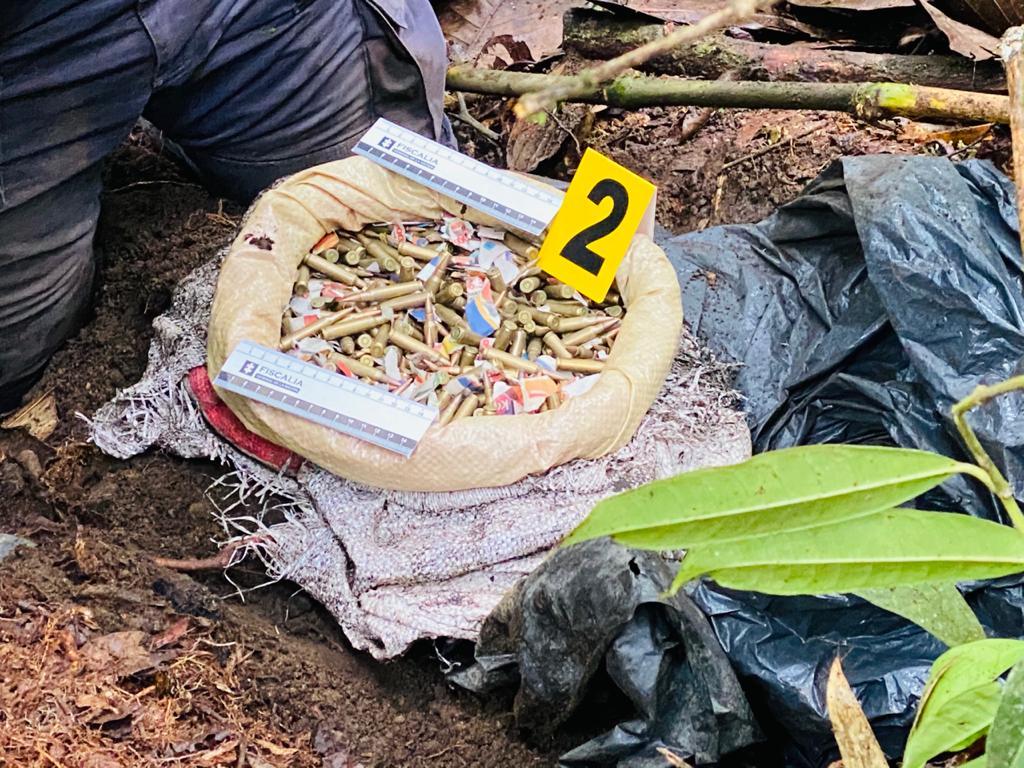 Caleta con armamento del ELN hallado en Villahermosa 7