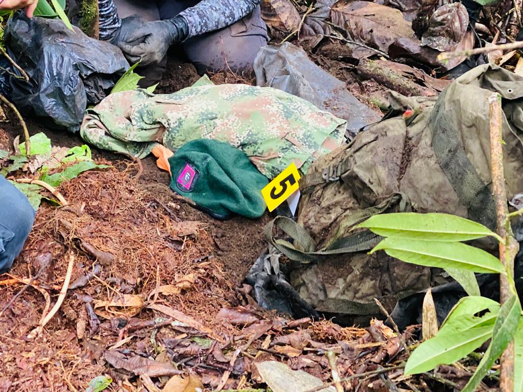 Caleta con armamento del ELN hallado en Villahermosa 4