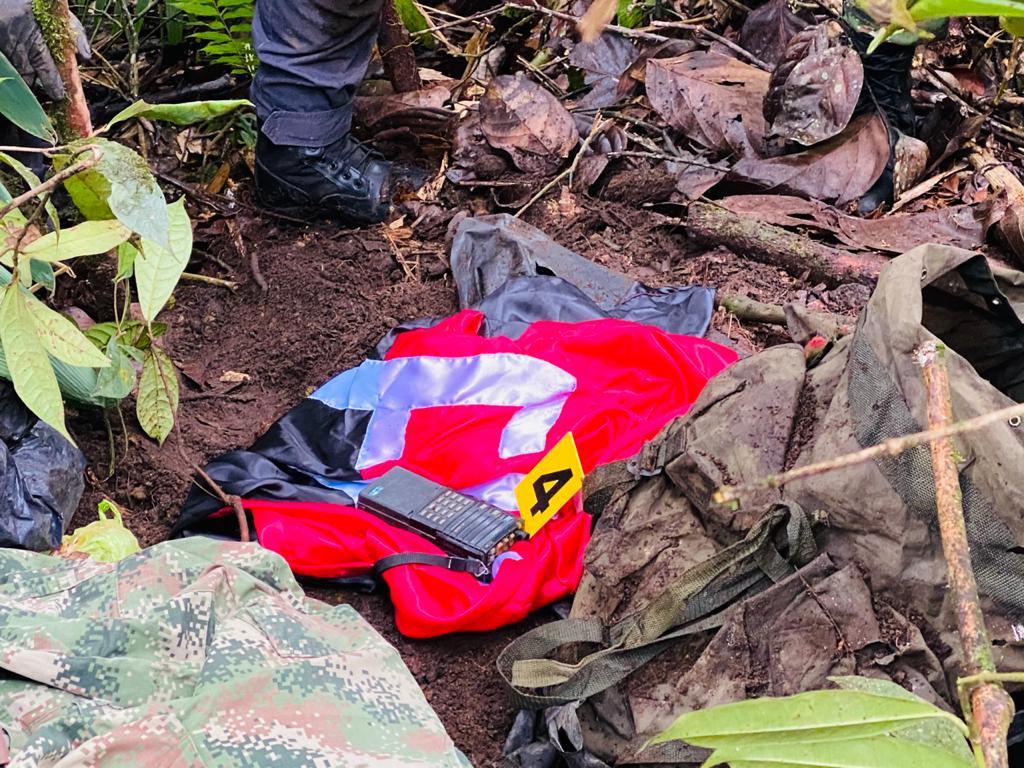 Caleta con armamento del ELN hallado en Villahermosa 5