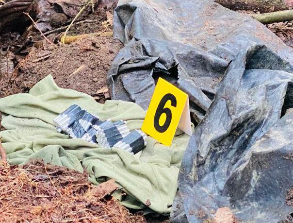 Caleta con armamento del ELN hallado en Villahermosa 2