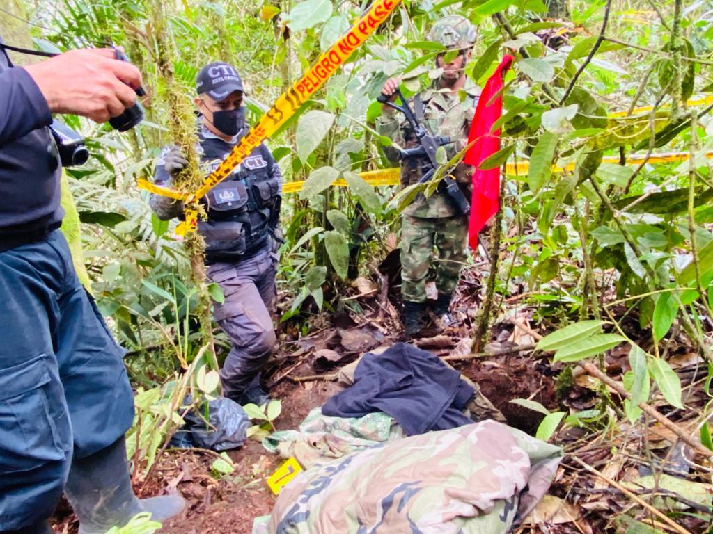 Caleta con armamento del ELN hallado en Villahermosa 3
