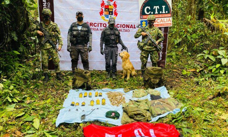 Caleta con armamento del ELN hallado en Villahermosa 1