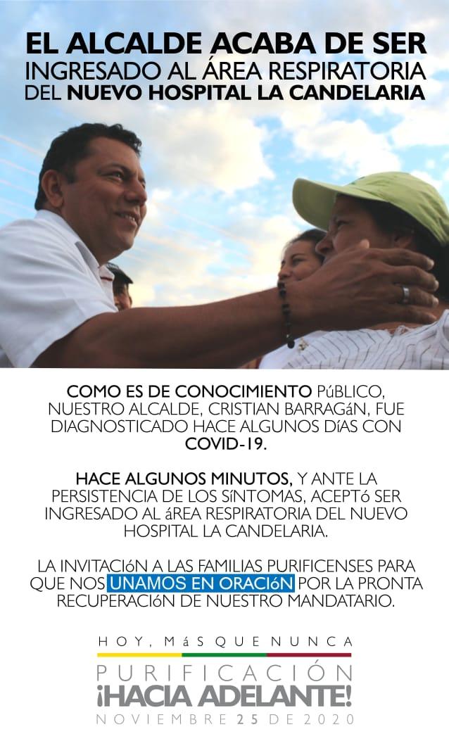 Alcalde de Purificación fue internado al hospital La Candelaria 4