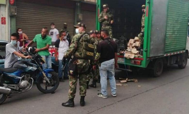 Munición para armamento de largo alcance fue encontrado en un camión perteneciente a una empresa de envíos 1