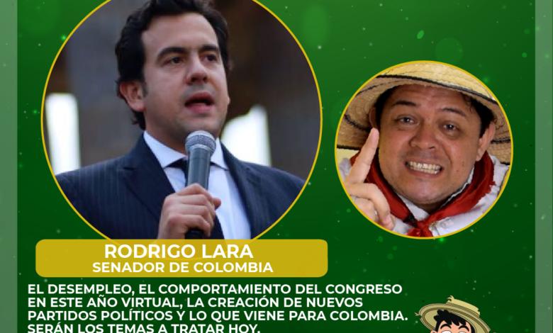 El Senador Rodrigo Lara en Don Tamalio en Vivo 1