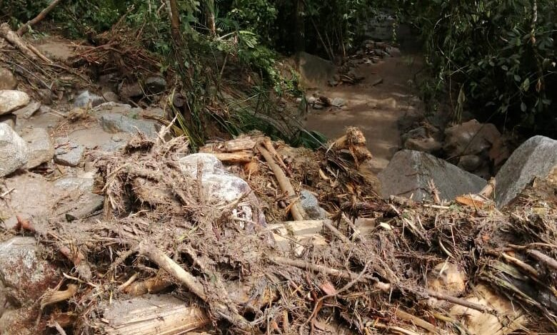 Colapsadas las vías terciarias del Tolima 1