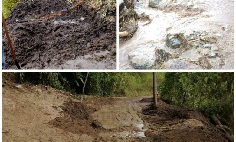 Deslizamientos de tierra tiene incomunicados a los habitantes de Bilbao, Planadas 1