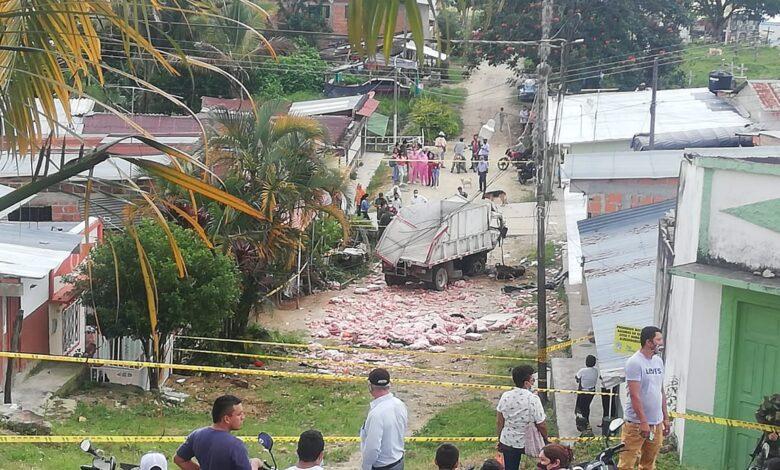 Auxiliar de conductor falleció tras accidente de Volqueta en Dolores 1